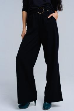 Pantalon noir avec des boucles