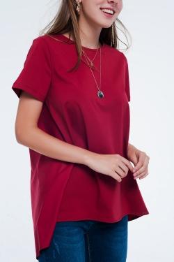 Robe t-shirt Rouge foncé