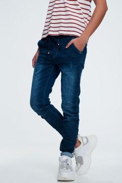 Jeans avec cordon de serrage